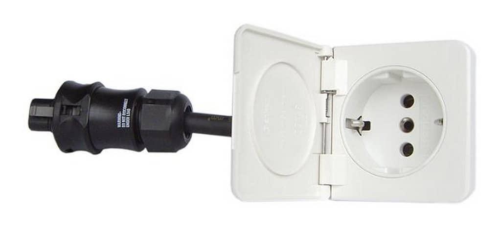 Ratio schuko outlet 1-weg FLUSH wit