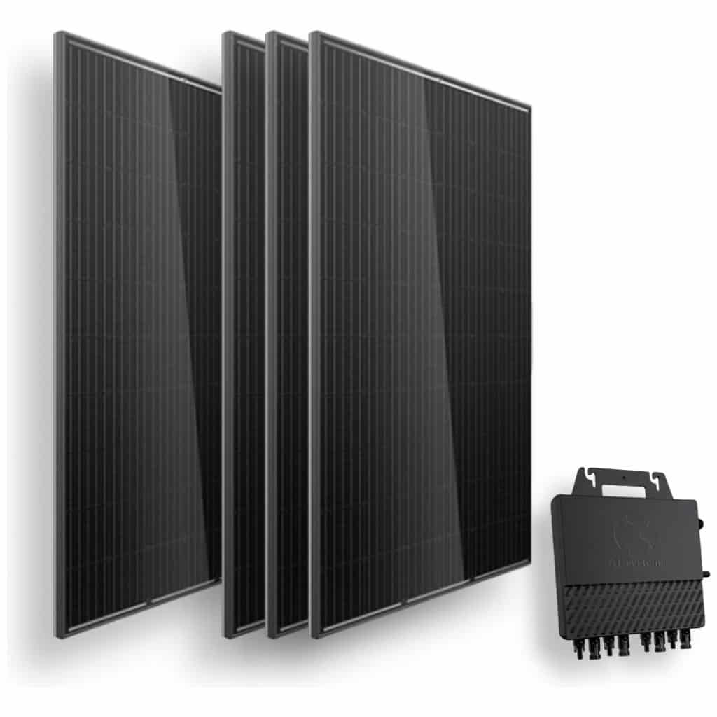 4 trina full black zonnepanelen en apsystems qs1 quad micro omvormer