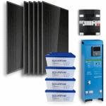 6 zonnepanelen 4,8 kWh agm accu meterkast