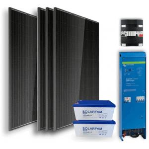 Off-grid set 2,4kWh AGM Accu – 1200W Omvormer – 4 Zonnepanelen