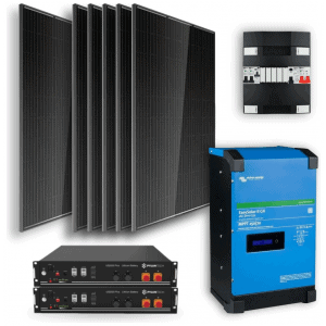 Off-grid-set-48kWh-Lithium-Accu-2400W-Omvormer-6-Zonnepanelen