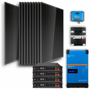 Off-grid set 9,6kWh Lithium Accu - 4000W Omvormer - 12 Zonnepanelen