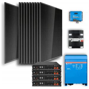 Off-grid set 14,4kWh Lithium Accu - 6500W Omvormer - 12 Zonnepanelen