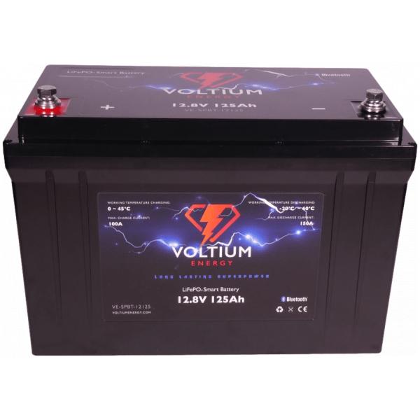 voltium 12,8v 125ah lithium batterij