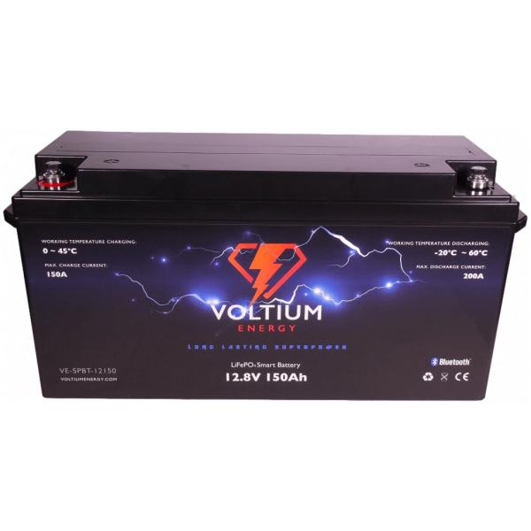 voltium 12,8v 150ah lithium batterij