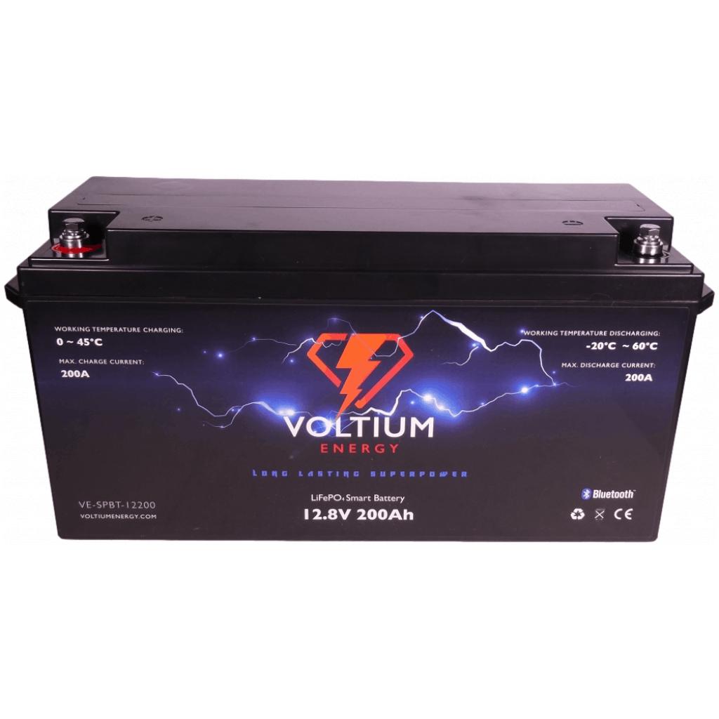 voltium 12,8v 200ah lithium batterij