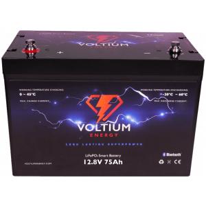 voltium 12,8v 75ah lithium batterij
